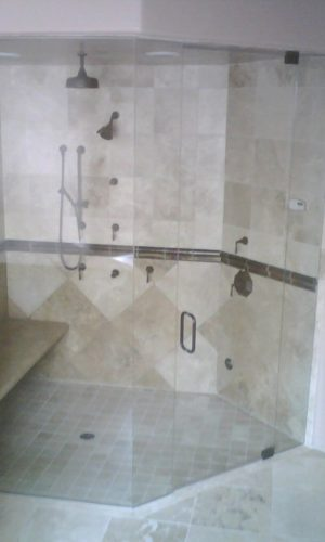 Frameless Glass Shower Enclosure - Hartman Glass