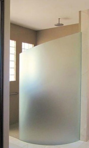Bent Glass Shower Enclosure - Hartman Glass
