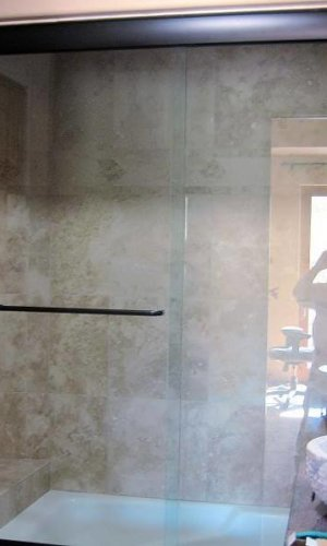 Bipass Shower Door - Hartman Glass