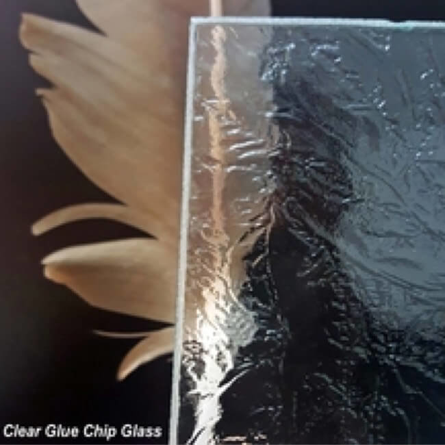 Clear Glue Chip Glass