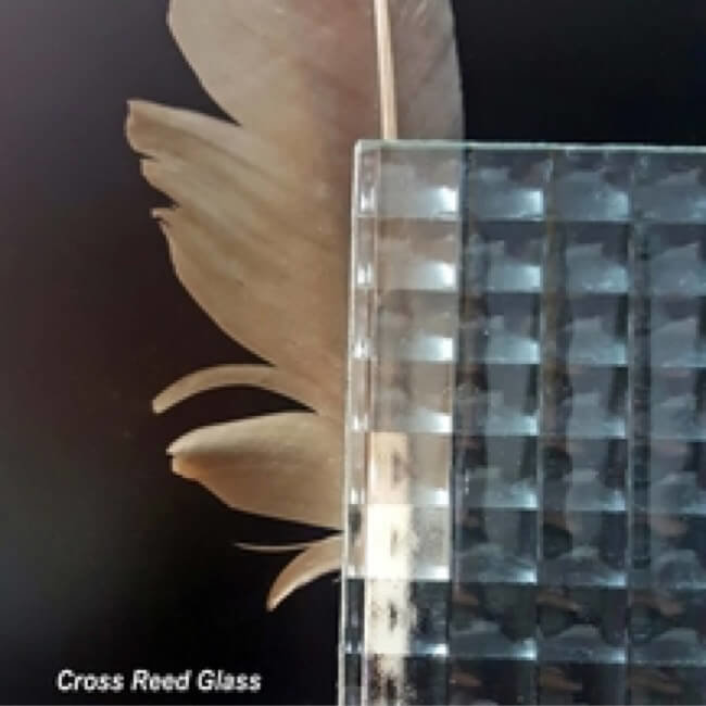 Cross Reed Cabinet Glass