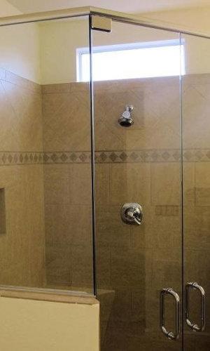 Double Swing Shower Doors - Hartman Glass