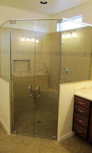 Dual Glass Shower Doors - Hartman Glass