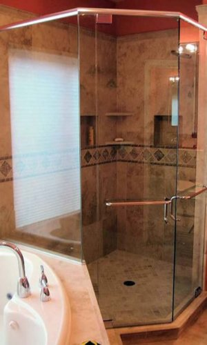Neo Angle Shower - Hartman Glass