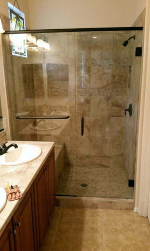Swing Door Frameless Shower Door - Hartman Glass