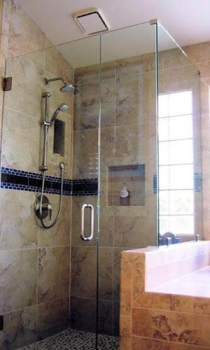 Swing Door Shower Glass - Hartman Glass