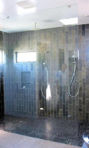 Swing Door Shower Panels - Hartman Glass