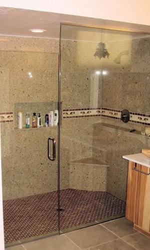 Swing Door Tall Shower Doors - Hartman Glass