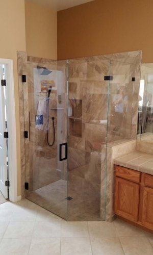 Swing Glass Shower Frame - Hartman Glass