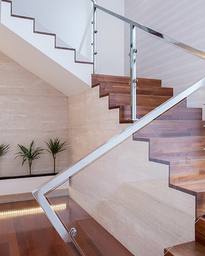 Glass Railing Stairs - Hartman Glass