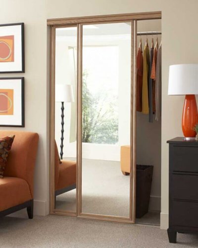 Golden Oak Dressing Room Mirror - Hartman Glass