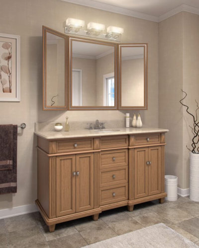 Golden Oak Vanity Flair Mirror - Hartman Glass