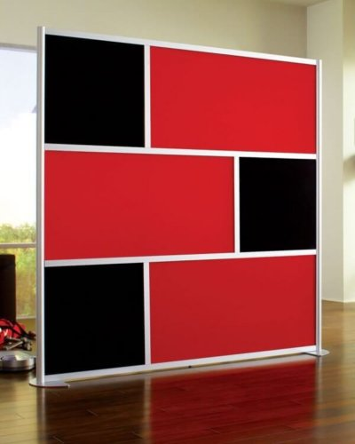 Red & Black Office Partitions - Hartman Glass